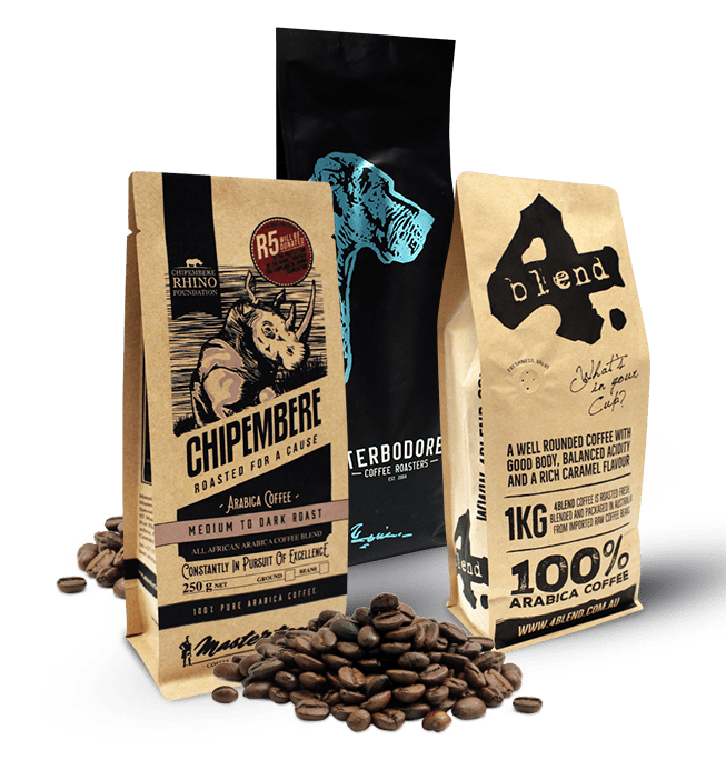 Coffee Bags and other Coffee packaging by O F Pack
