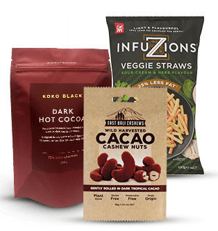 Confectionery, Snacks And Chocolate Packaging