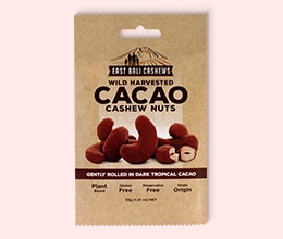 Flat Kraft Pouches for Cacao Product