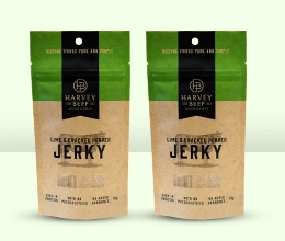 Kraft Stand Up Pouches with Window for Jerky Brand