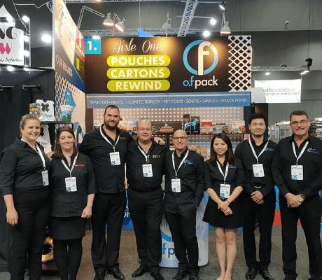 O F Packaging Team in Auspack 2019
