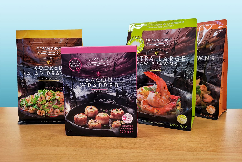 Ocean Chef Range Packaging by O F Pack