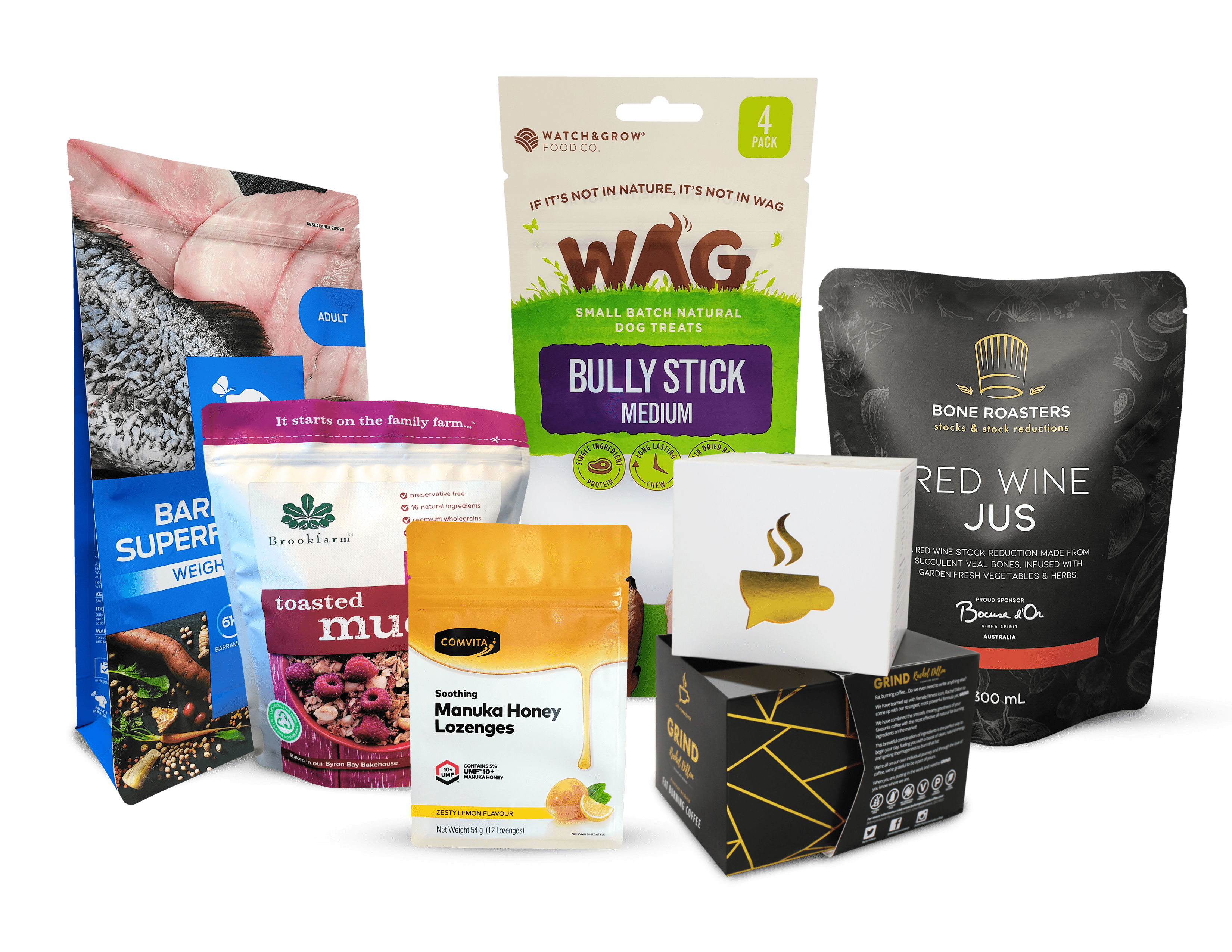 custom product packaging in Australia by O F Pack